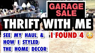 HOME DECOR THRIFT SHOPPING \u0026 THRIFT HAUL * PRICES BETTER THAN GOODWILL * HOW I STYLE THRIFTED DECOR