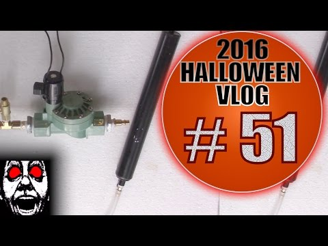 Homemade Pneumatic Cylinders and Solenoids #1 | DIY Halloween Vlog 2016 #51: Pop Goes The Geezer