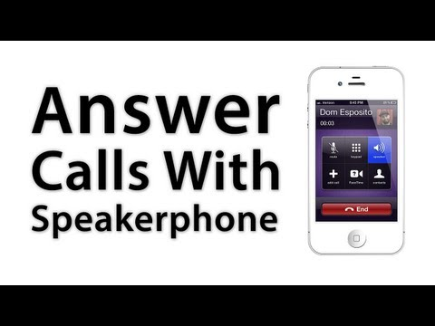[iOS Advice] How To Answer Every Call On Speakerphone
