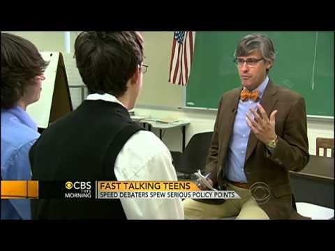 Fast talking teens debate foreign policy at warp speed   CBS News
