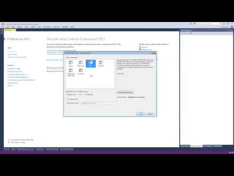 Microsoft .Net MVC 5 - Basic Template Setup in Visual Studio 2013