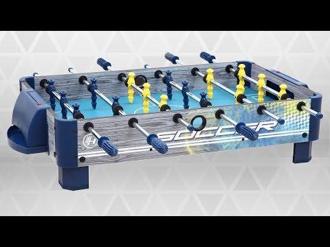 Tabletop Foosball Table with Silver Handles | Dazadi.com