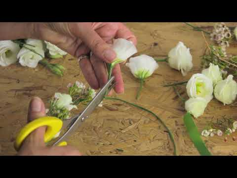 DIY Wedding Flowers - How to make a Flower Crown by Campbell's Flower School
