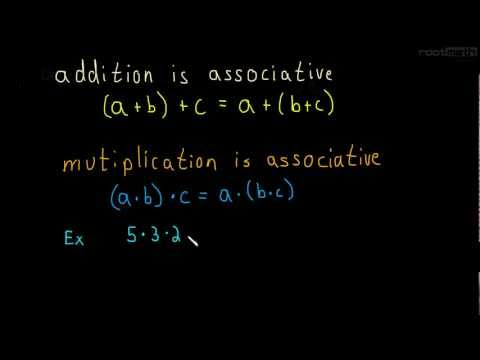 1.2 Associative Property of Addition and Multiplication