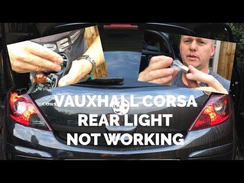 Vauxhall Opel Corsa D Brake Light Bulb Replacement, side light, indicator bulb