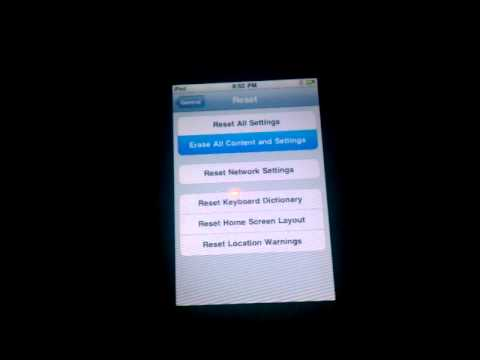 How to erase all content in your Ipod touch