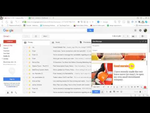 How to send Html Editable email in Gmail.