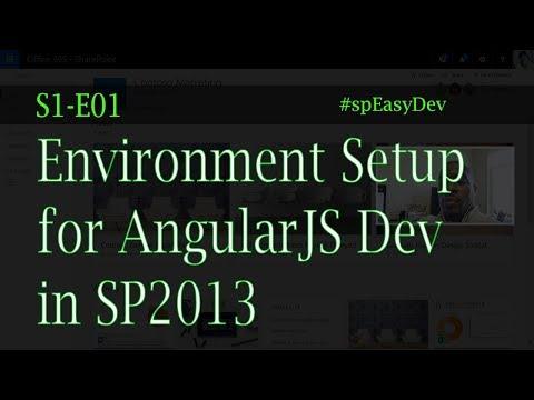 S1E01: Best SharePoint 2013 Development Environment Setup for AngularJS - Custom Solutions