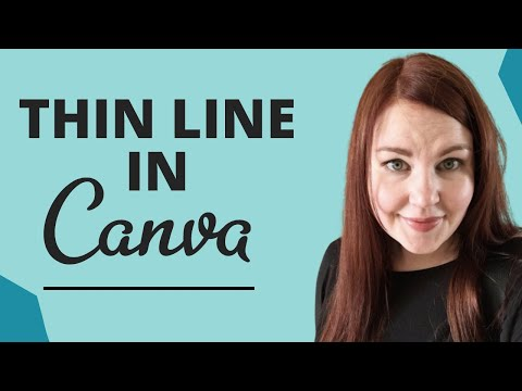 Canva Tutorial: How to Create a Thin Line