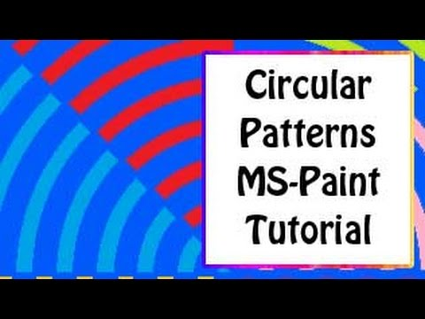 ms paint tutorial   how to create beautiful circular patterns in mspaint win xp and win7