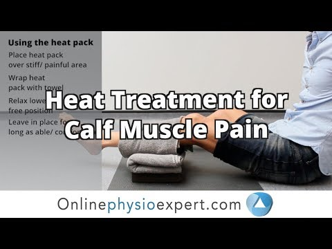 Calf muscle pain relief heat treatment