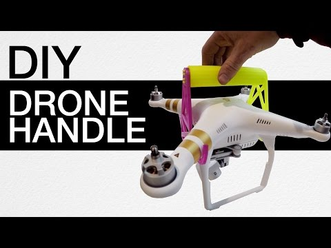 3D printed Drone Handle - DJI Phantom 3 DIY project