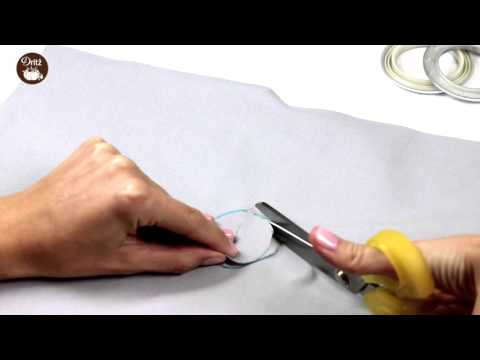 How to apply a Dritz Curtain Grommet