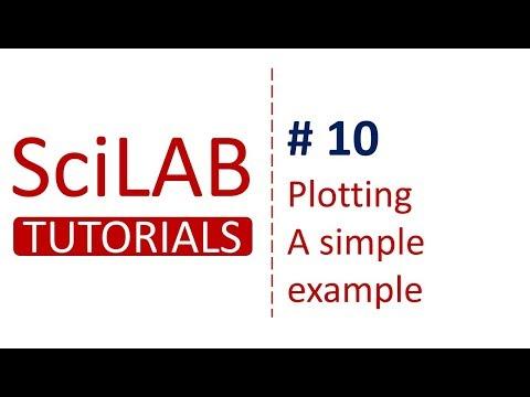 SciLab Tutorials # 10 - Plotting in SciLab - Simple Example