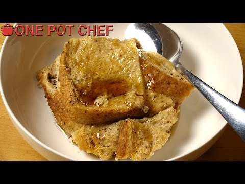Slow Cooker French Toast Pudding | One Pot Chef