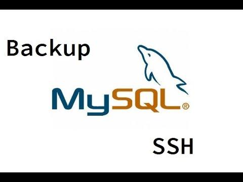 Backup do MySQL via SSH - mysqldump
