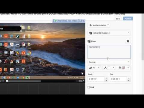 How To Add A Subscribe Button To Your Videos For YouTube[FAST&EASY]December 2013
