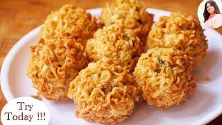 Best Maggi Pakora Recipe, maggi recipe, maggi pakoda, Quick & Easy Evening Veg Snacks Indian Recipe