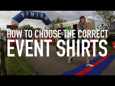 How to choose the correct event shirts