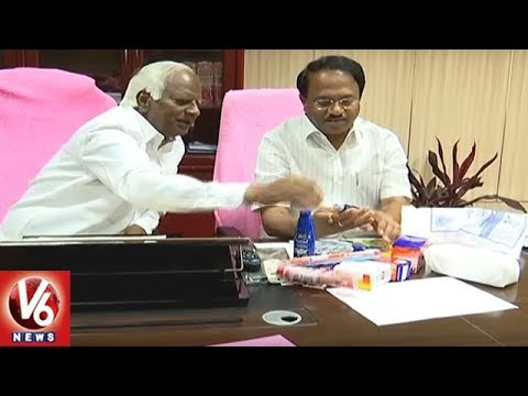 Telangana Govt To Issue Health Cards And Hygiene Kits For Students   V6 News