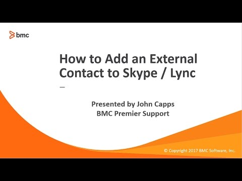How to Add an External Contact to Skype or Lync