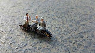 Figurines Ride Centipede to Work II ViralHog