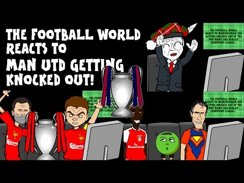 FOOTBALLERS REACT TO MAN UTD GETTING KNOCKED OUT of the UCL (Day 9 Football Advent Calendar)