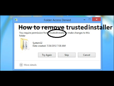 ► How To: Remove 'Trusted Installer' Permissions [Windows 7]