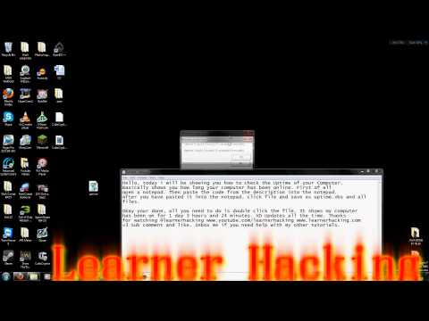 How to check your PC's Uptime (Learnerhacking)