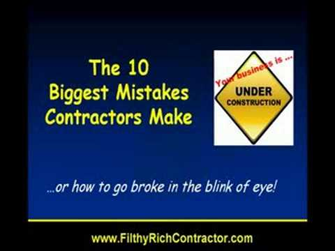 How a Contractor Should NOT Run His Construction Business