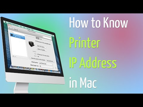 How to Know Printer IP Address in Mac