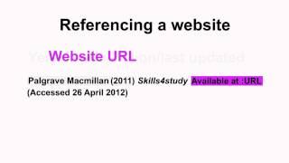 Harvard Referencing Part 7 Websites