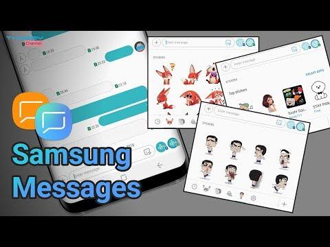 Samsung Messaging V5 Update Part 2 | New Sticker Features