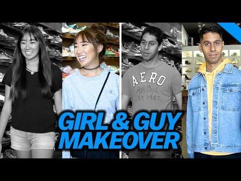 GIRL & GUY BACK TO SCHOOL MAKEOVER 2017