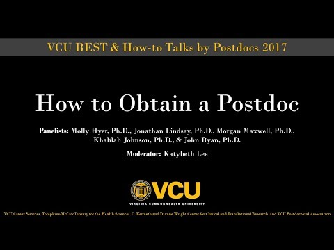 How to obtain a postdoc (Oct. 2, 2017)