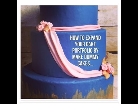Navy Blue Wedding Portfolio Cake