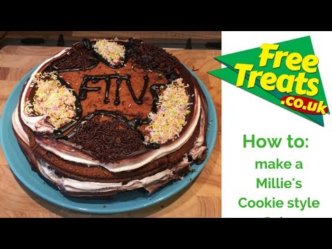 How to make a Millie's Cookie style Cake   FreeTreats TV
