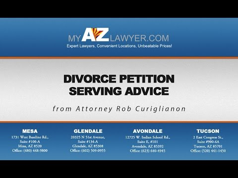Divorce Petition Serving Advice from Attorney Rob Curigliano