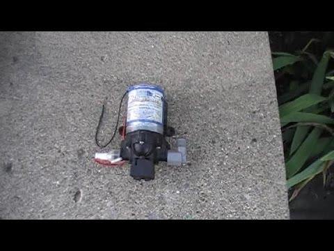 SURFLO 2088 WATER PUMP REPLACEMENT IN CAMPER