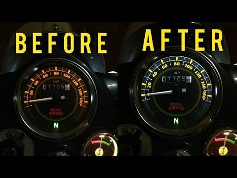 Royal Enfield Speedometer and Ampmeter bulb replacement
