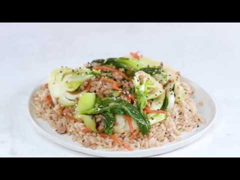 Sweet-and-Sour Sesame Bok Choy with Pork | Cooking Light