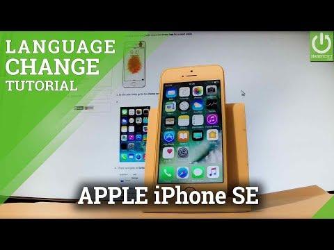 APPLE iPhone SE Change Language / List of Languages