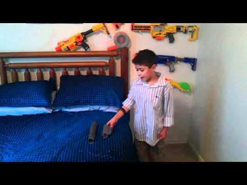 Walk through Of My Bedroom and Nerf Guns