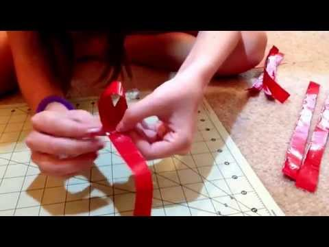 How to make a Duct Tape Gift Bow!