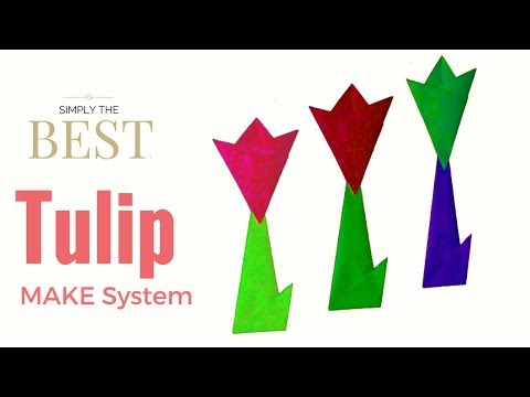 How to make a paper Tulip Flower with Stem and Leaf easy origami.