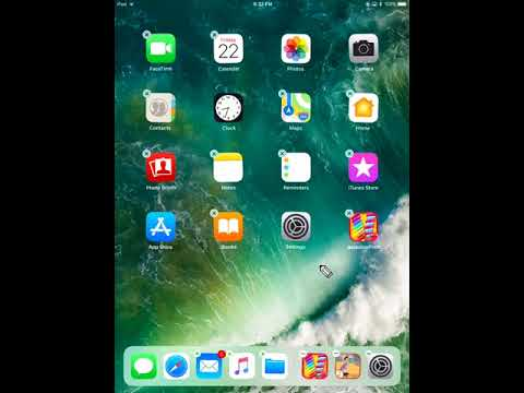 How to Remove / Delete App from iPad, iPhone, iPod - iOS 11 - Help Video