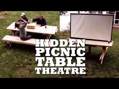 DIY HIDDEN Picnic Table THEATRE
