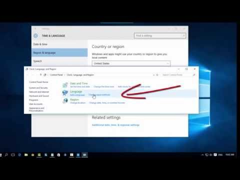 Windows 10 How to change layout keyboard