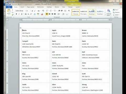 Tutorial on How to Create Custom Mailing Labels Using the CMO Data Export