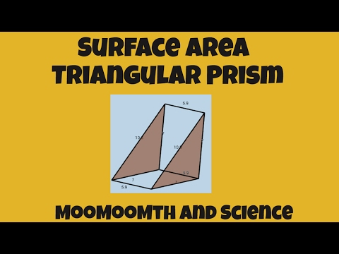Surface Area of a Triangular Prism-Includes net of the shape